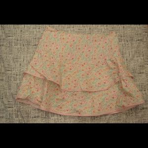 Limited Too Bottoms - Limited Too White Floral Layered Kids Skirt